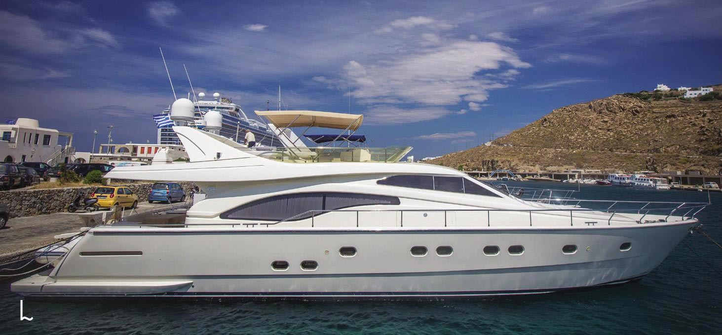 Yacht Ferretti 68 available for charter in Mykonos