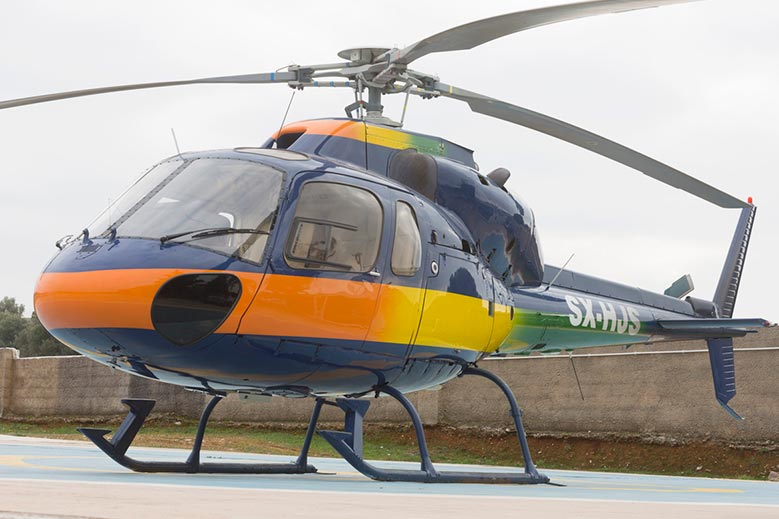 Charter a Private Helicopter in Greece
