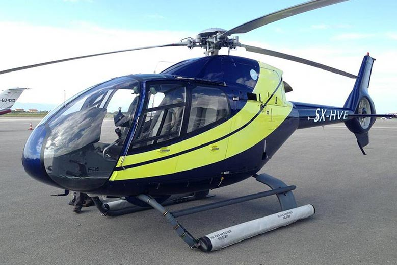 Charter the EC120 helicopter in Greece