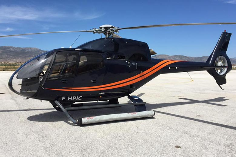 Charter the EC120 helicopter in Mykonos